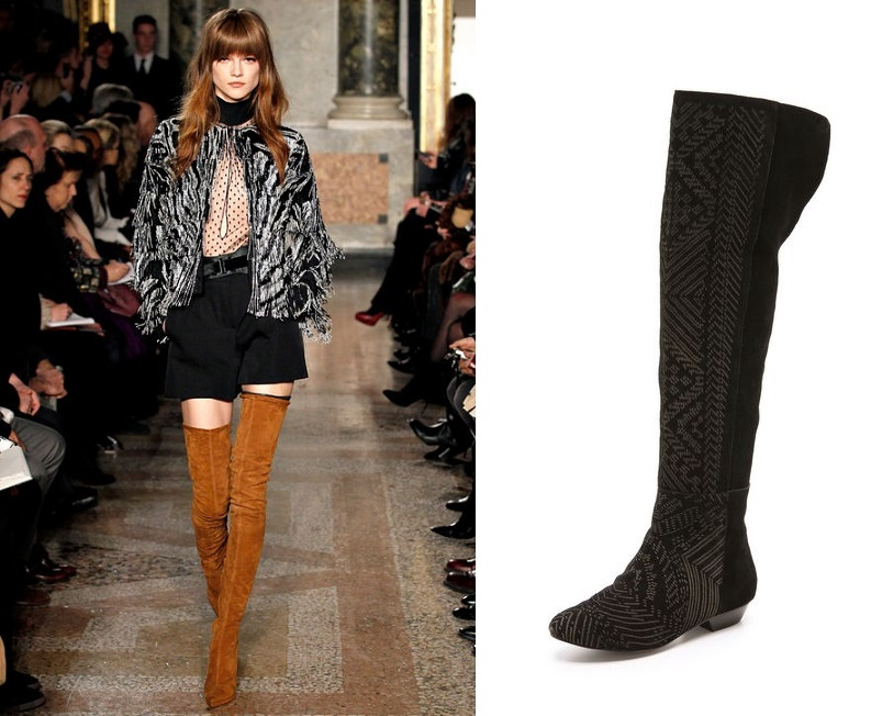 Thigh High Brown Suede Boots